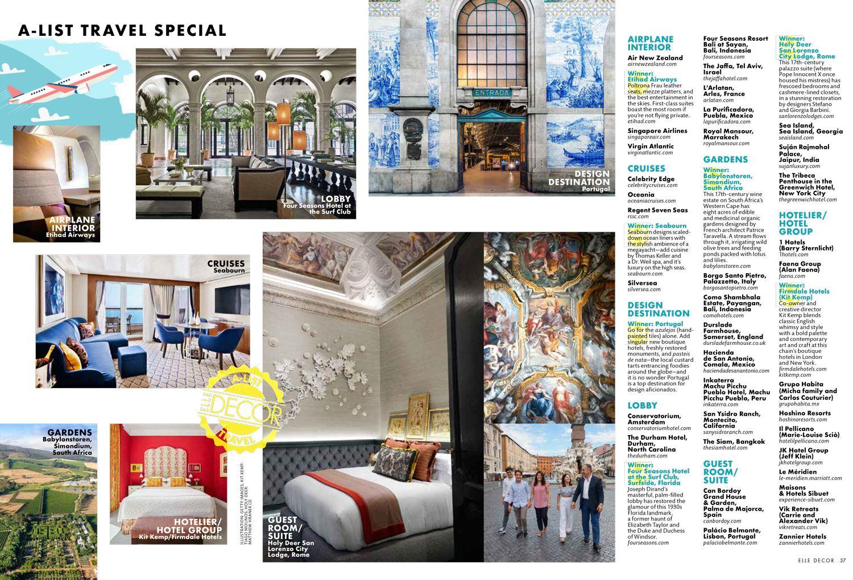 Elle Decor Interior Designers the 2019 elle decor travel a-list - san lorenzo lodges